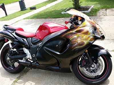Custom painted Suzuki Hayabusa