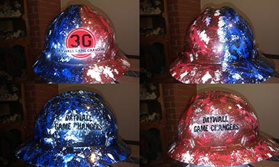 3g drywall custom hard hat