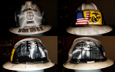 transmission survey custom hard hat