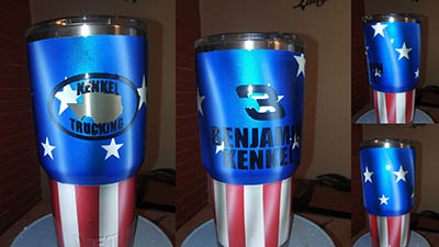 Custom painted yeti Cup Kenkel Trucking