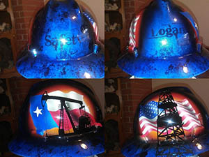 Texas oilman custom hard hat