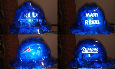 custom hard hat new england patriots opt