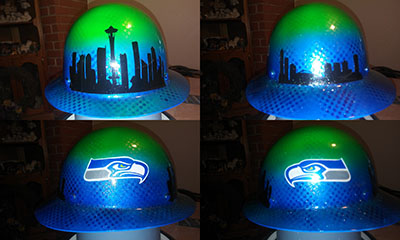 seattle seahawks custom painted hard hat