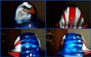 Eagle and American flag hard hat